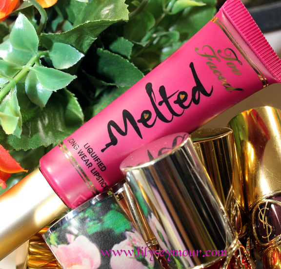Too Faced Liquified Lipstick in Melted Berry