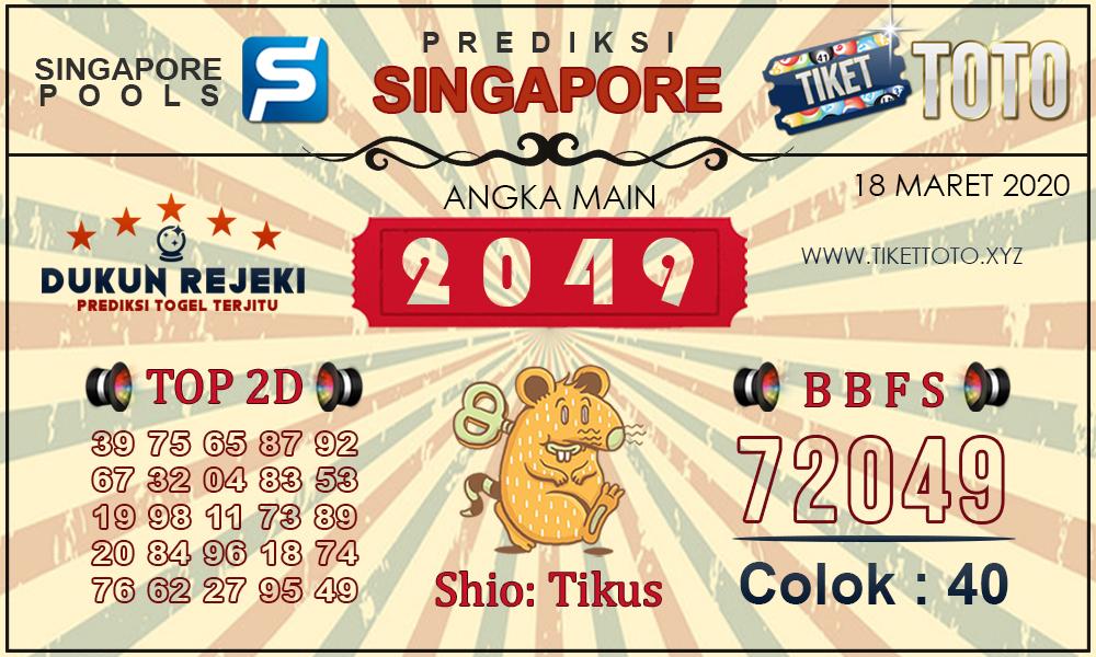 Prediksi Togel SINGAPORE TIKETTOTO 18 MARET 2020