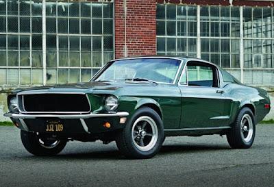 1968 Green Mustang Bullit Fastback Front Left