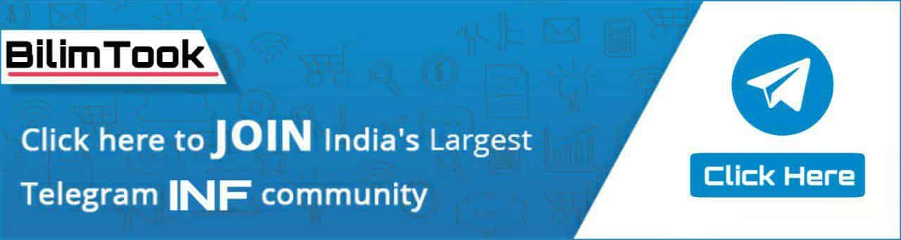 Click here to join India's largest Telegram INF Community.