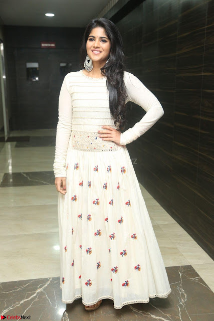 Megha Akash in beautiful White Anarkali Dress at Pre release function of Movie LIE ~ Celebrities Galleries 001.JPG