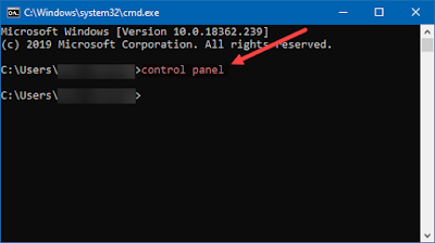 membuka control panel, cmd, command prompt