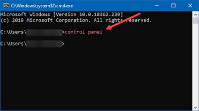 membuka control panel, cmd, command prompt