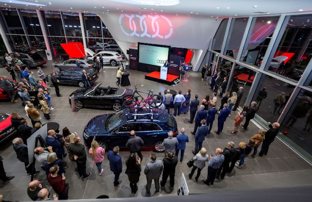new audi uk dealership showroom open