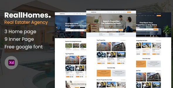 Best Real Estate & Property Agency Template
