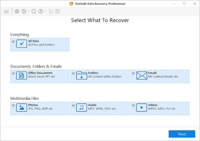 Screenshot OneSafe Data Recovery Professional 8.0 Full Version