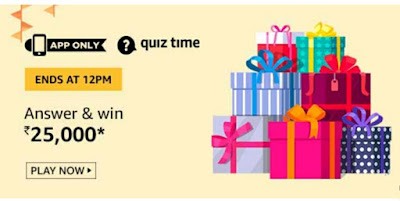 Amazon Quiz 23 September 2019 Answers Win – Rs 25,000