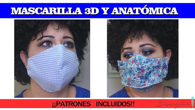 Mascarillas 3D anatómicas