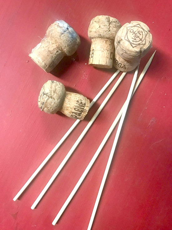 Supplies for DIY Planter Mushrooms Stakes
