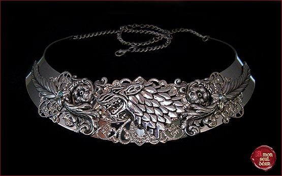 collier Loup Stark Winterfell Sansa Arya torque Necklace Wolf Winter is Coming Game of Thrones medieval torc jewelry