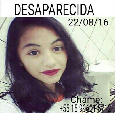 Samara Lima - Desaparecida em Apiaí-SP