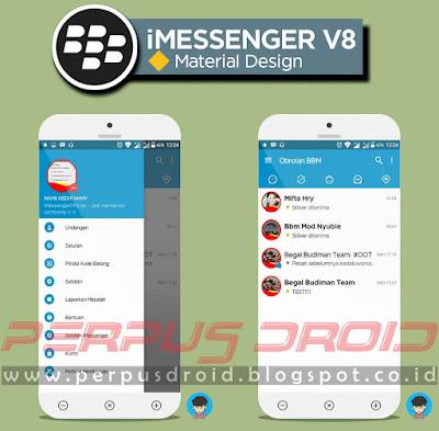 Download BBM Mod iMessenger V8 Versi 3.1.0.13 Apk Material Design