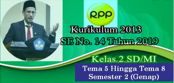 RPP 1 Halaman K13 Kelas 2 SD/MI Tema 5 Hingga Tema 8