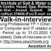 Walk in interview For ICAR-Indian Institute of Soil & Water Conservation Recruitment 2019