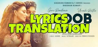 Doob Gaye Lyrics in English | With Translation | – Guru Randhawa