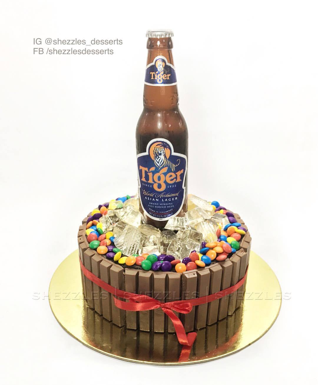Pleasing Shezzles Cakes And Pastries Tiger Beer Kit Kat Cake Funny Birthday Cards Online Alyptdamsfinfo