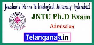 JNTU PHD Jawaharlal Nehru Technological University Hyderabad Admission Notification Application