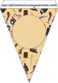 Pirate Party Free Printable Bunting.