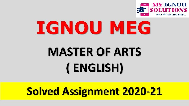 MEG Solved Assignment 2020-21
