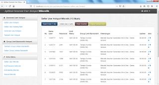 Mikrotik PHP API Generate User Hotspot