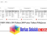 Kisi-Kisi USBN SMA IPS Tahun 2019 atau Tahun Pelajaran 2018-2019