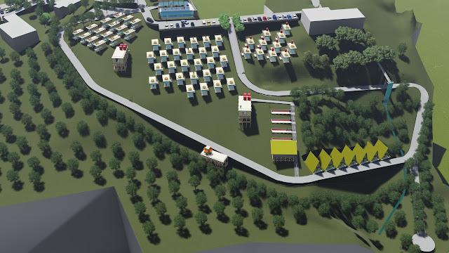 site plan villa dwg