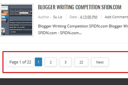 Cara Mengganti Tulisan Older Post/Posting Lama dengan Widget Page Navigation Ala Arlina