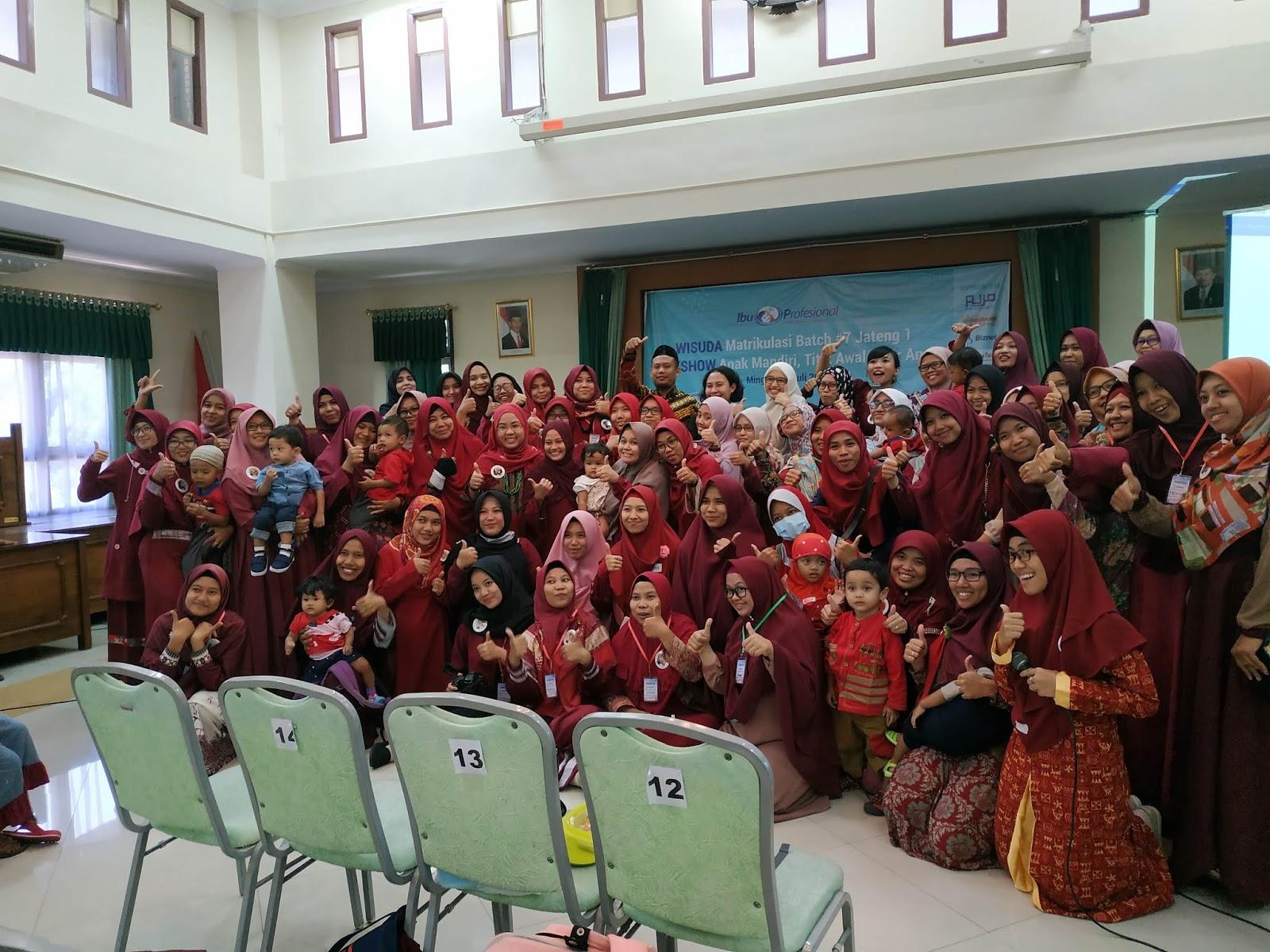 seminar anak mandiri wisuda offline Matrikulasi Institut Ibu Profesional Batch 7