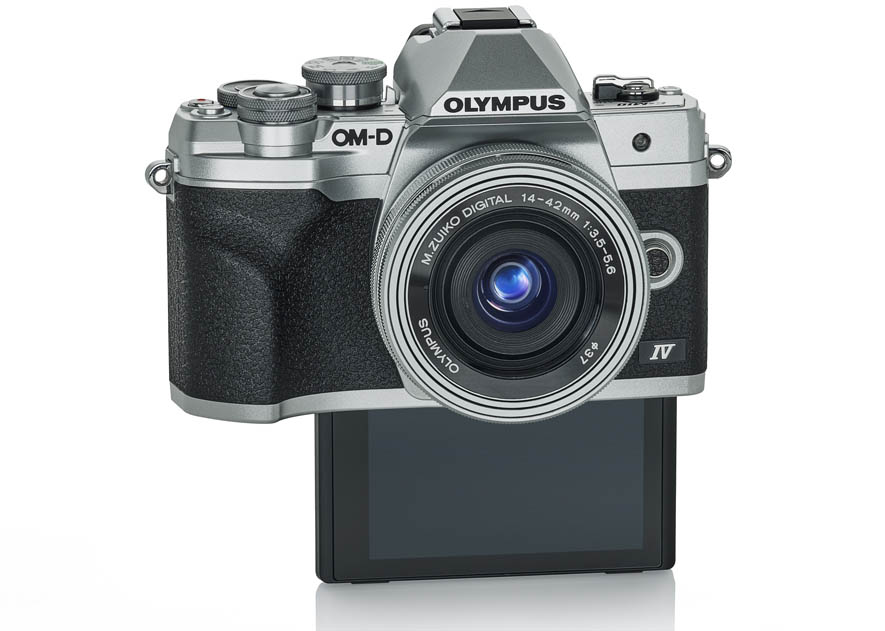 Olympus OM-D E-M10 Mark IV с откидным вниз экраном
