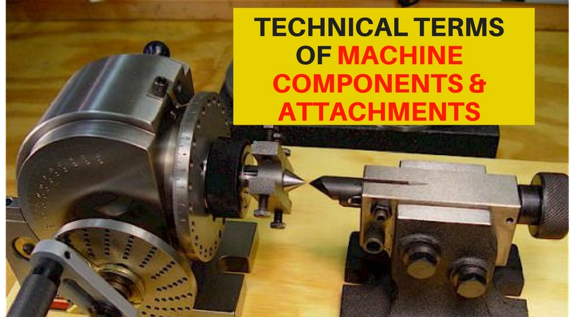 TECHNICAL TERMS OF MACHINE COMPONENTS AND ATTACHMENTS EXPLAINED !!