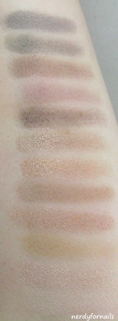 Lovatics Collection by Demi- NYC, New York Color- Eye Shadow Palette- Natural Swatches