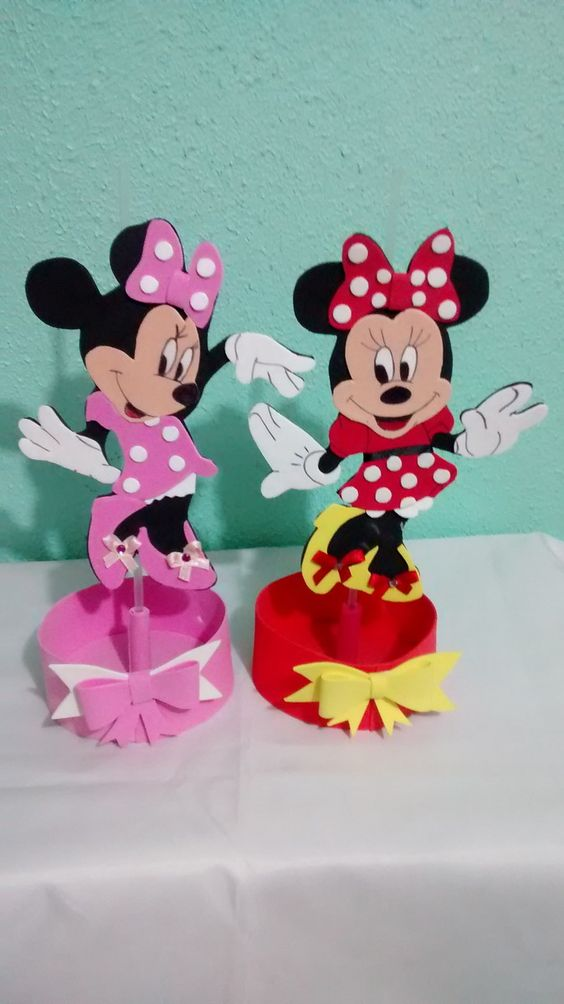 Como Un Hacer Centro Mouse Minnie De De Mesa