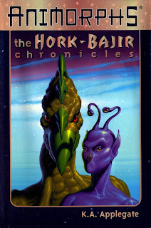 A bladed, green alien (Dak Hamee) and a purple alien with four eyes (Aldrea)