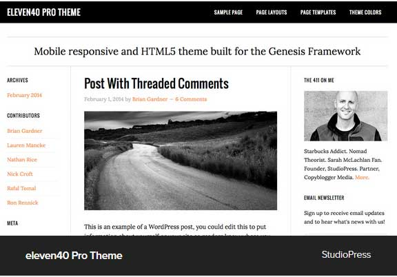 Eleven40 Pro Theme Award Winning Pro Themes for Wordpress Blog : Award Winning Blog