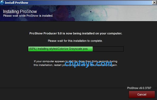 Hướng dẫn cài đặt phần mềm Proshow Producer 9.0.3797 f