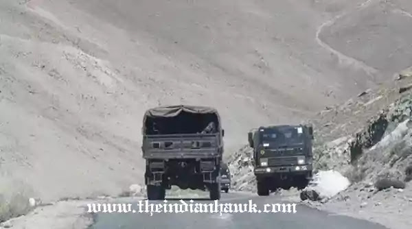 Indian Army convoy to ladakh
