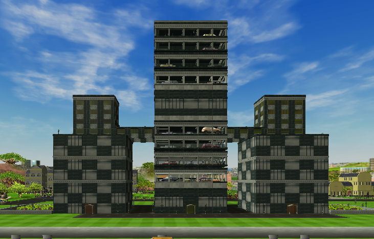 Roller Coaster Tycoon 3 Downloads: RCT3 Black Office Building with