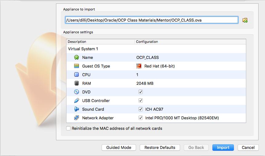 Restore ova file Oracle VirtualBox ~ Dilli's Oracle/MySQL