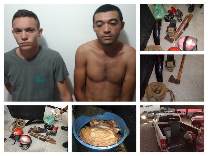Polícia Civil prende elementos suspeitos de invadir propriedades e matar animais na zona rural de Cajazeiras e região