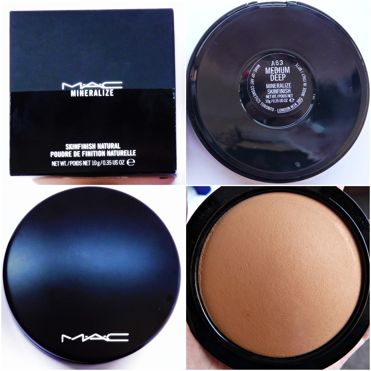 Polvos minerales de MAC (Mineralize Skinfinish Natural, tono Medium Deep)