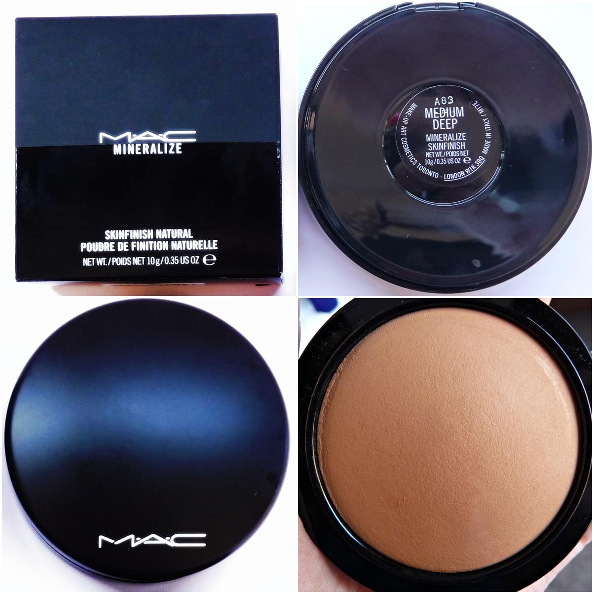 Polvos minerales de MAC (Mineralize Skinfinish Natural, tono Medium Deep)
