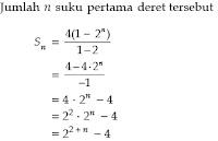 perbedaan deret aritmatika dan geometri