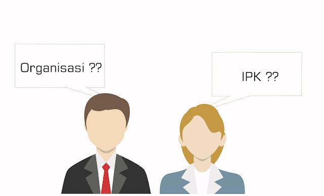 pilih IPK atau organisasi