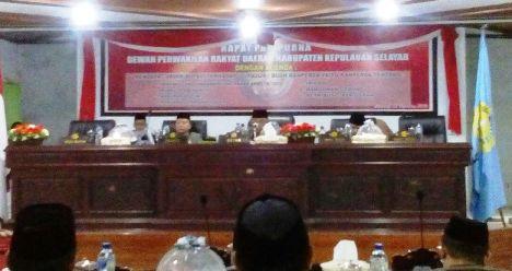 Rapat Paripuna Dprd Selayar Dengan Agenda Pendapat Akhir ,Bupati ,Terhadap ,7, Ranperda ,Dilaksanakan ,Malam ini