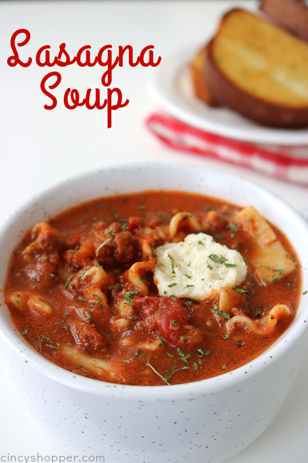 Lasagna Soup from Cincy Shopper