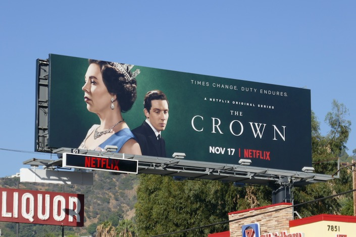 The Crown season 3 billboard