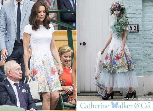 Kate Middleton wore Catherine Walker Floral Summer Dress