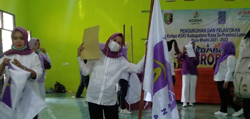 Didaulat Sebagai Ketua DPC  ASKI Waykanan, Maryana Berjanji Kembangkan Sayap Aerobic