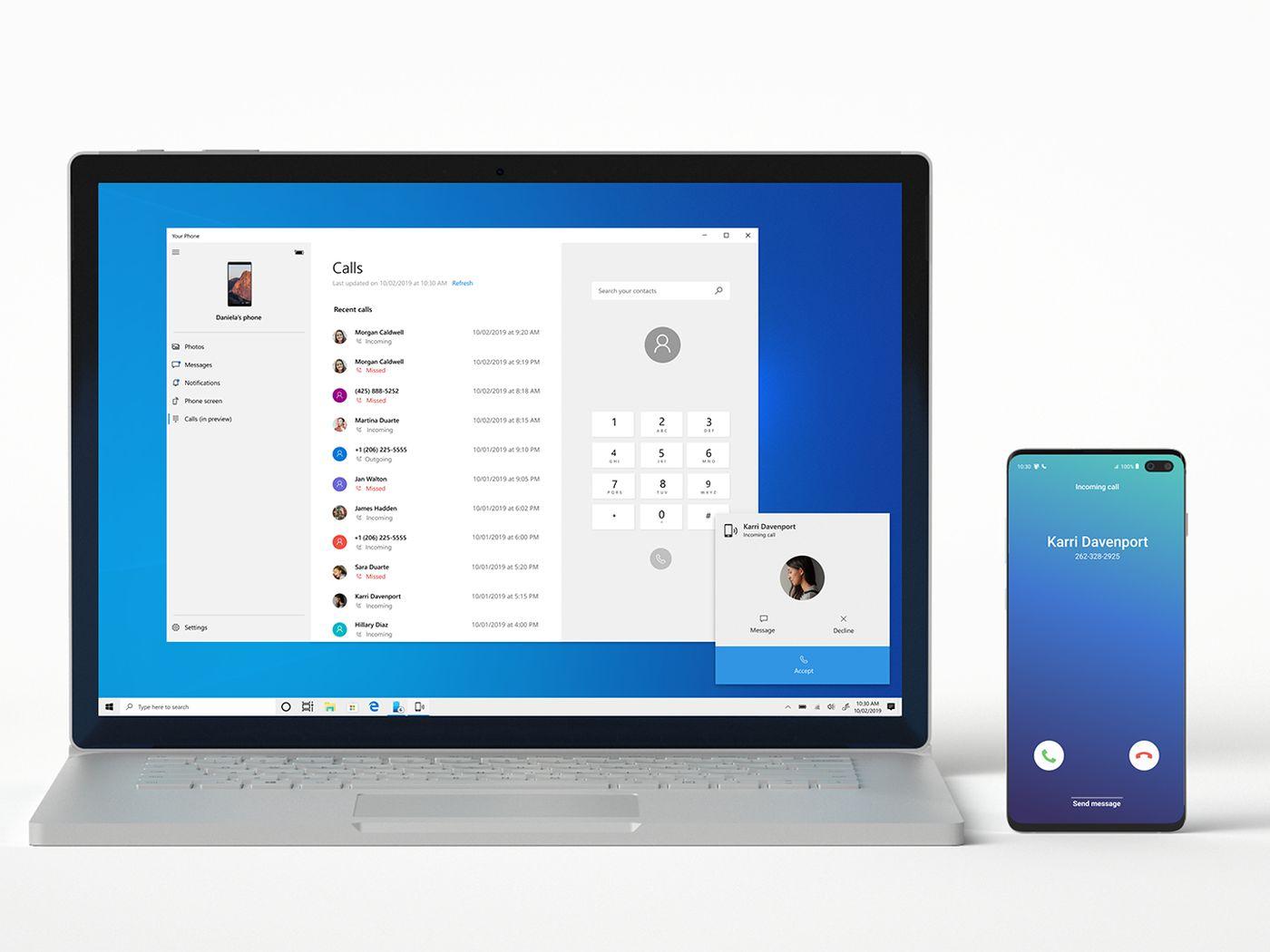 Gestire le impostazioni dello smartphone da PC Windows 10 con l'app Il tuo telefono