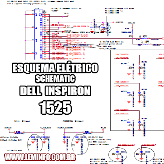 Esquema Elétrico Notebook Laptop Notebook Dell Inspiron 1525 Manual de Serviço  Service Manual schematic Diagram Notebook Laptop Notebook Dell Inspiron 1525    Esquematico Notebook Laptop Notebook Dell Inspiron 1525